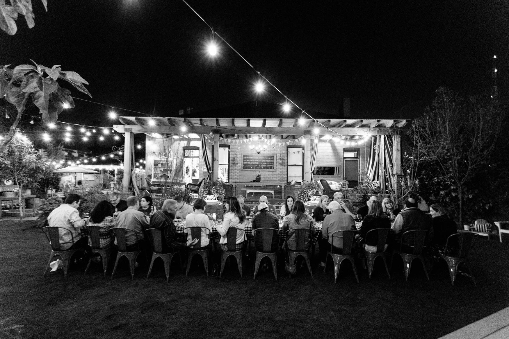 Boho Farm and Home Dinner theme Spain in backyard tapas.