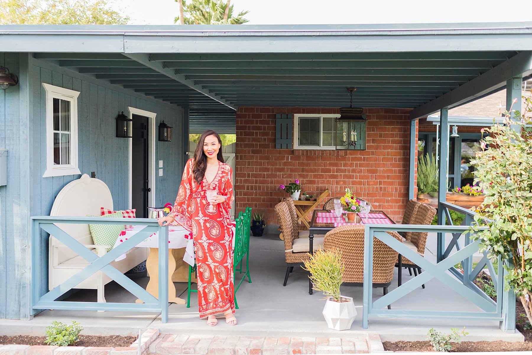 Patio home makeover lifestyle home blogger Diana Elizabeth