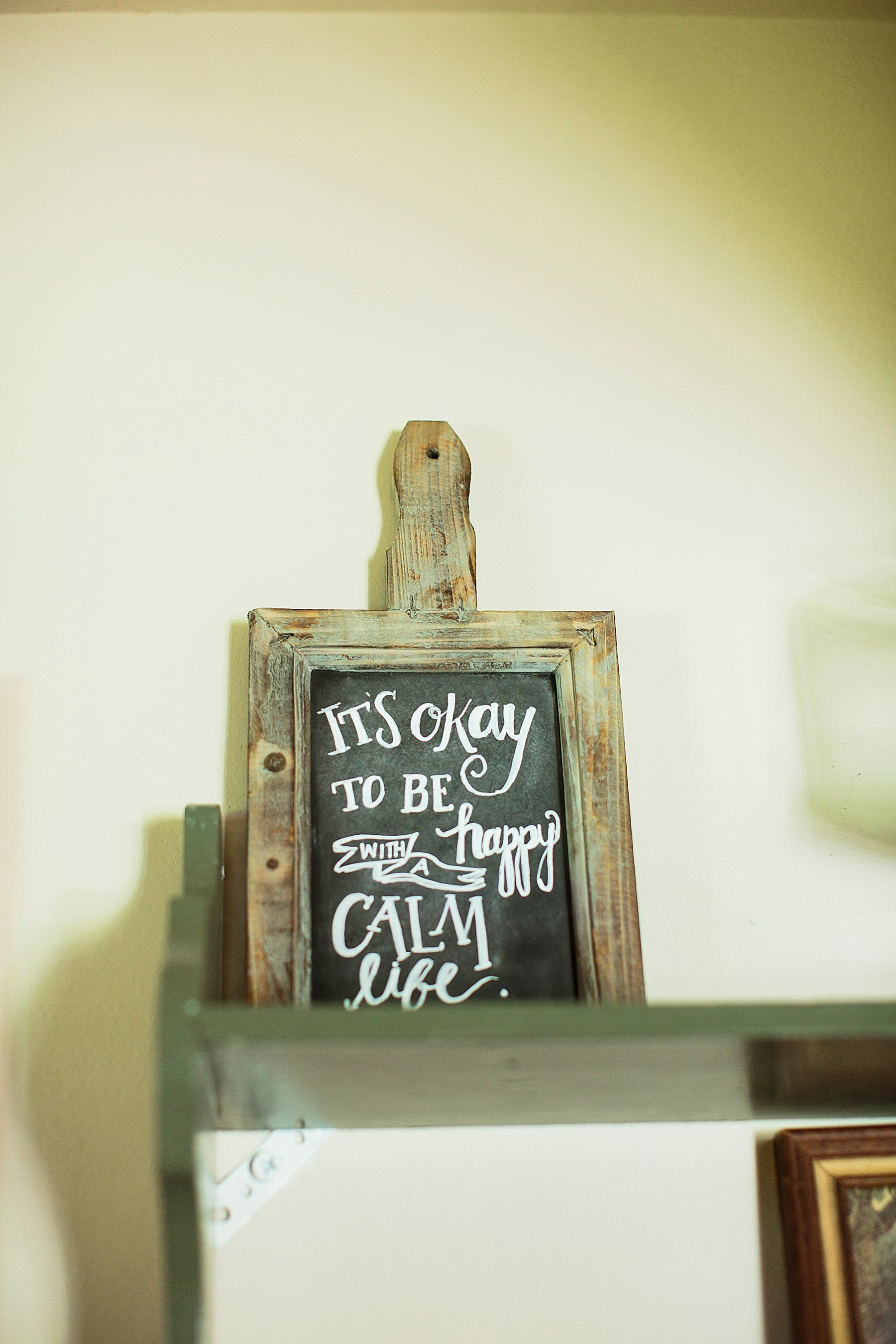 It's OK to be happy with a calm life