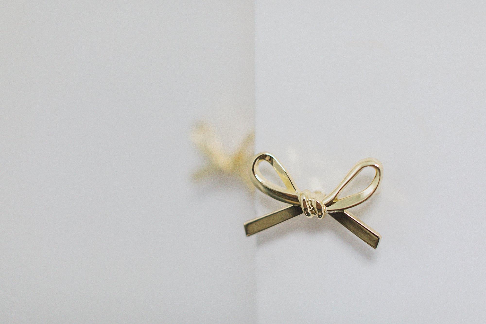 gold bow knob on closet doors