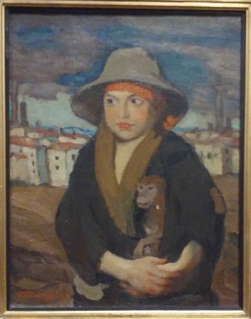 """Jānis Roberts Tilbergs """" boy with a Monkey"""""""