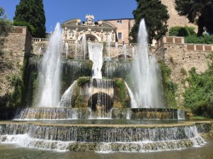 Day 5, a fountain giving primacy to Tivoli, not Rome