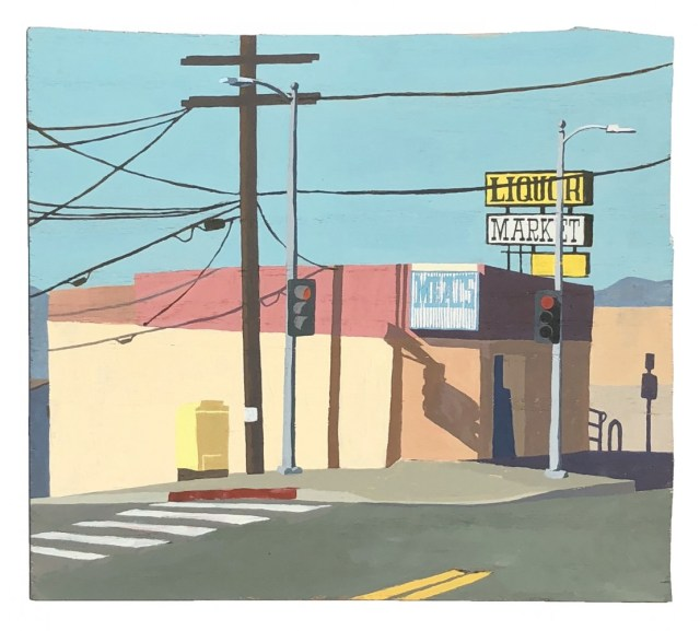 Diana Kohne Rozee Meat market painting of an intersection in Sunland