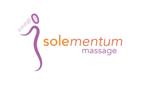 A design for a sole massage studio feature the body sole image, an image that is both a restored body and a foot
