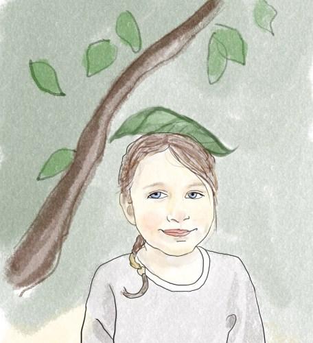digital child portrait