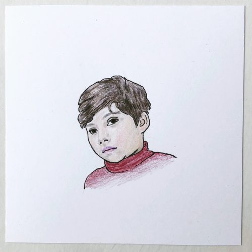 hand drawn child portrait commission