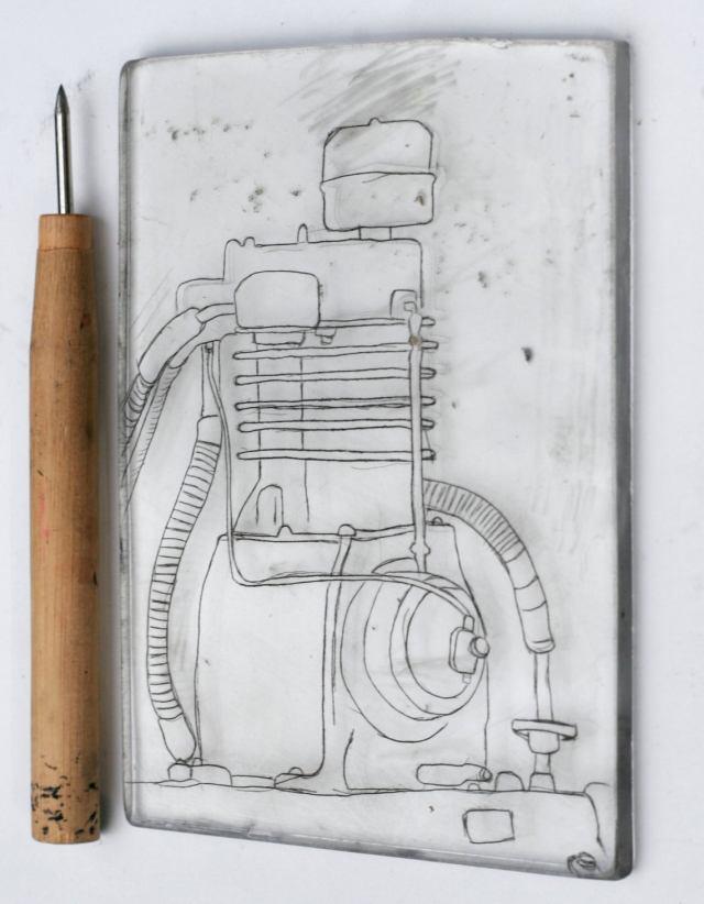 motor etching plate