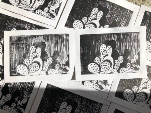 linocut printmaking
