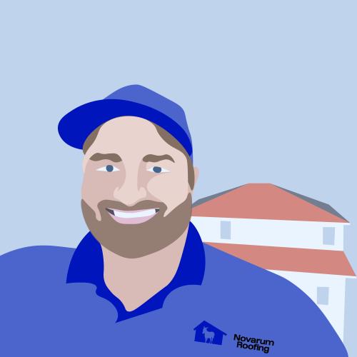 roofer branding custom vector portrait illustration
