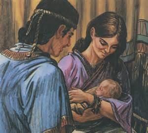 David, Bathsheba and child