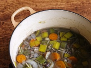 Soup is a great way to get in veggies