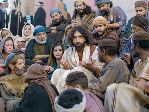 Jesus is teaching when his mother and brothers arrive