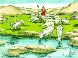 David's life was transformed from a shepherd boy...