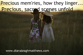 Precious mem'ries, how they linger How they ever flood my soul In the stillness of the midnight Precious, sacred scenes unfold.