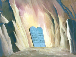 God gave the 10 Commandments to Moses for the Israelites
