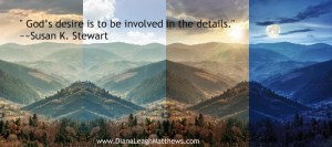 God is in all the details.  Even ones we are unaware of.