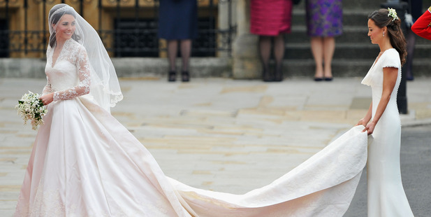 Pippa caused quite a stir when she arrived at sister Kate's wedding in a figure-hugging dress Photo (C) GETTY