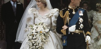 The wedding of Prince Charles and Lady Diana Spencer at St Paul's Cathedral in London, 29th July 1981. The couple leave the cathedral after the ceremony. (Photo by Fox Photos/Hulton Archive/Getty Images)