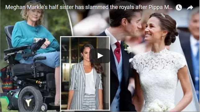 Meghan Markle's half sister has slammed the royals after Pippa Middleton's wedding