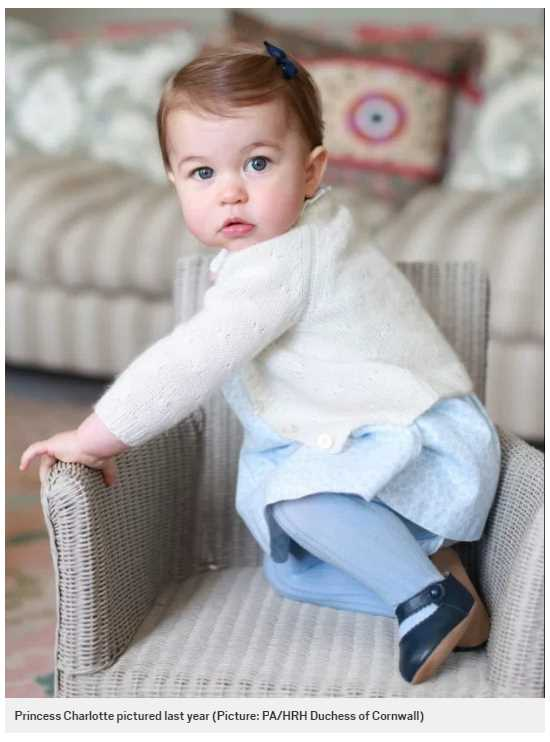 Princess Charlotte pictured last year