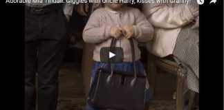 Giggles with Uncle Harry, kisses with Granny
