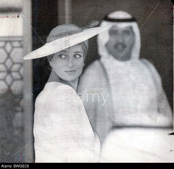 BWGB26 Prince And Diana Princess Of Wales -tour Of Gulf - March 1989 She Would Have Caused A Sensation Even At Ascot. In The Desert She