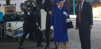 The Queen has visited Westway Centre Photo (C) SKY NEWS