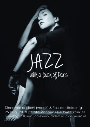 Poster Jazz with a touch of Paris