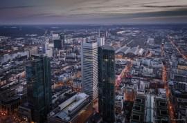 Blick auf den Skyper Frankfurt