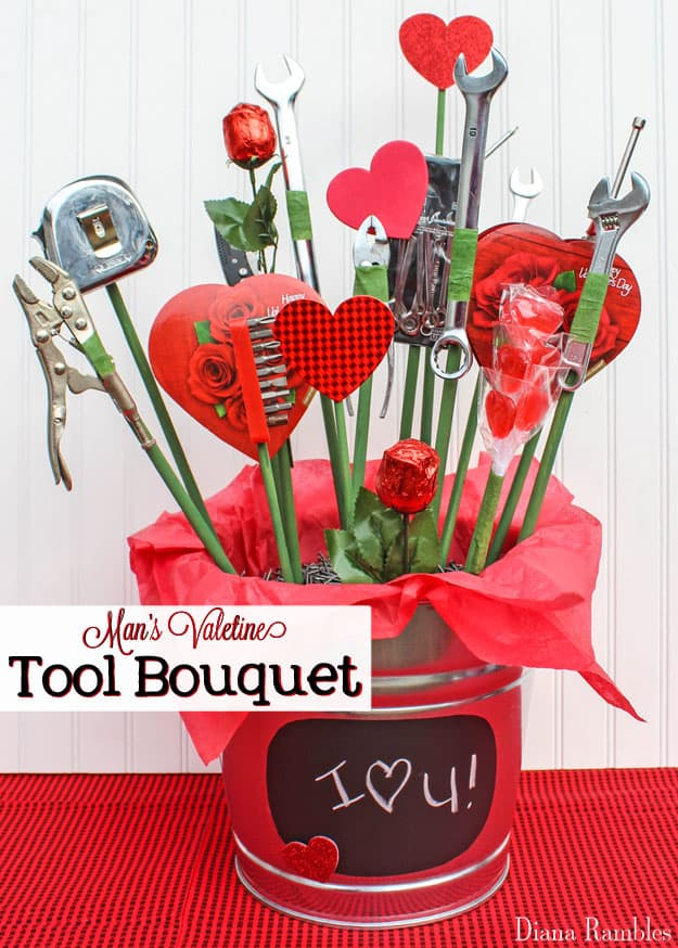 Man Candy And Tool Bouquet Tutorial For Valentines Day