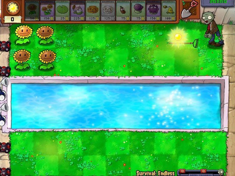 Plants VS Zombies Survival: Endless100FlagsSetup (2/6)