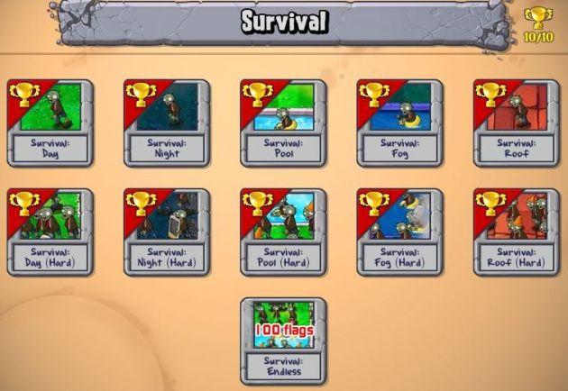 Plants VS Zombies Survival: Endless100FlagsSetup (1/6)