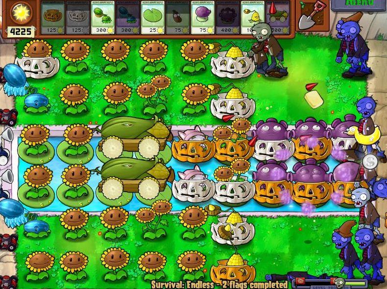 Plants VS Zombies Survival: Endless100FlagsSetup (6/6)