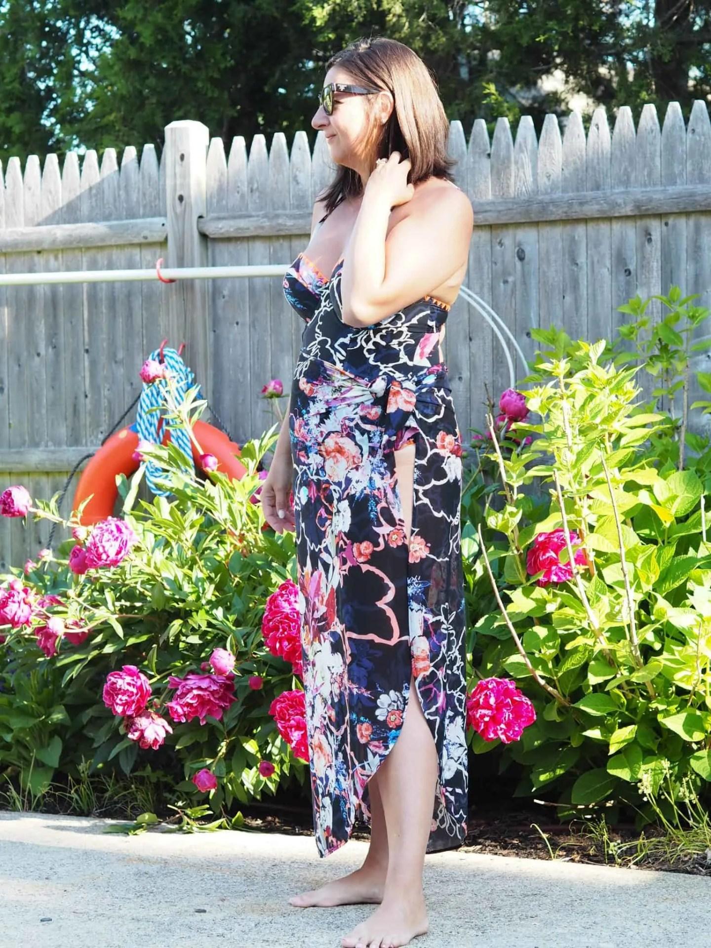 Rachel Roy Floral Swimsuit