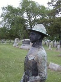 Grubs Memorial, Maplewood Memorial Lawn Cemetery, detail