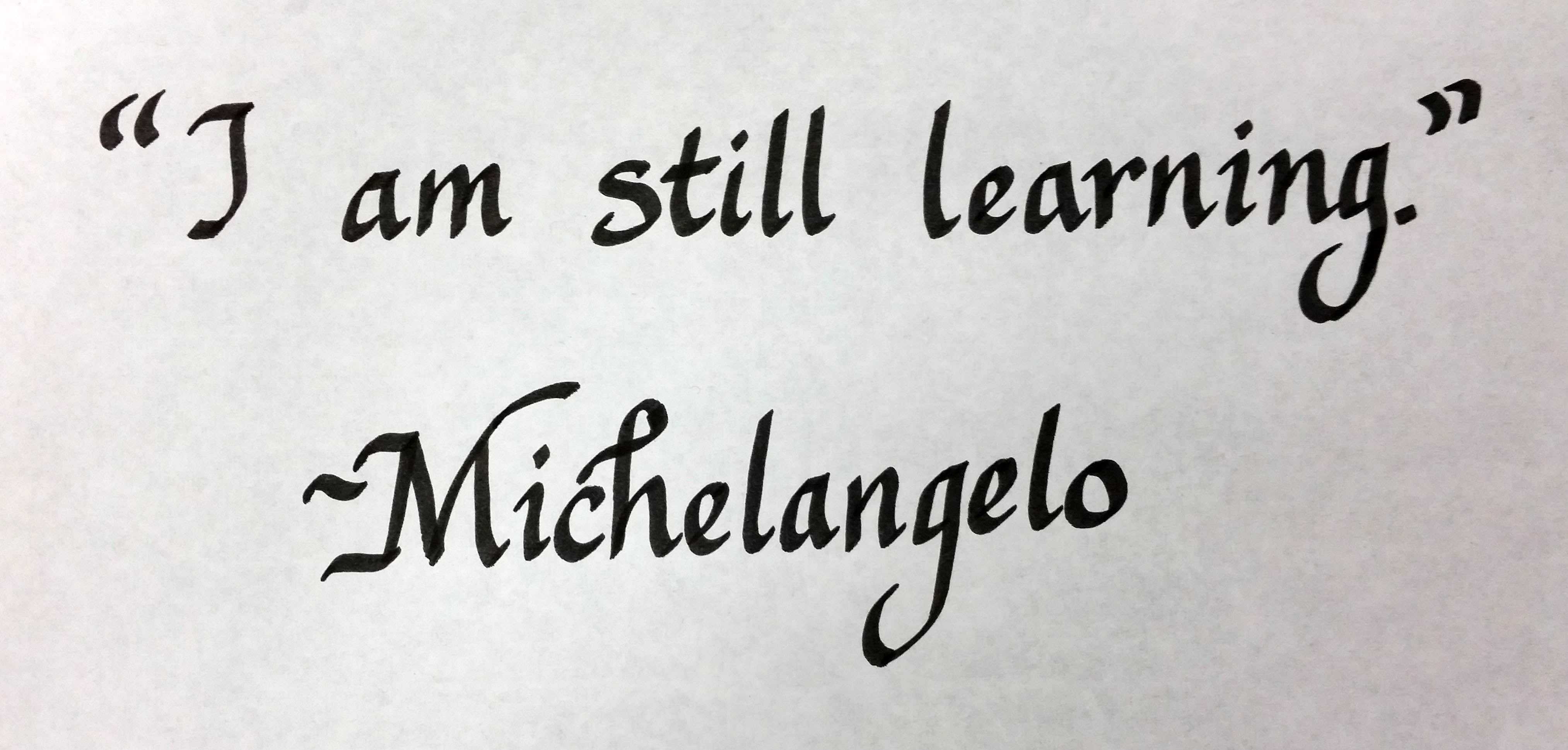 Image result for i am always learning michelangelo