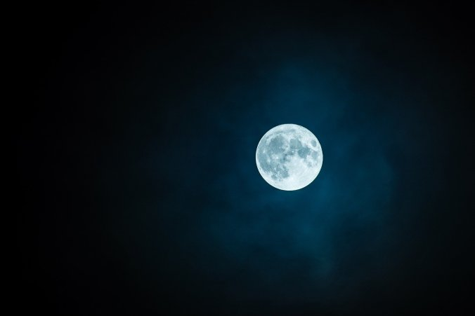 photograph of a full moon