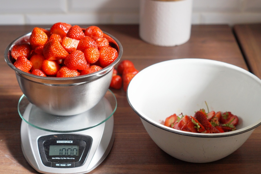 Erdbeermarmelade kochen