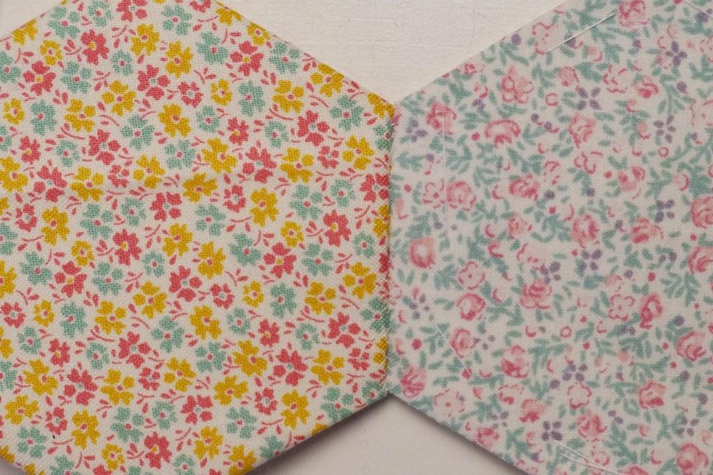 patchwork mit hexagons