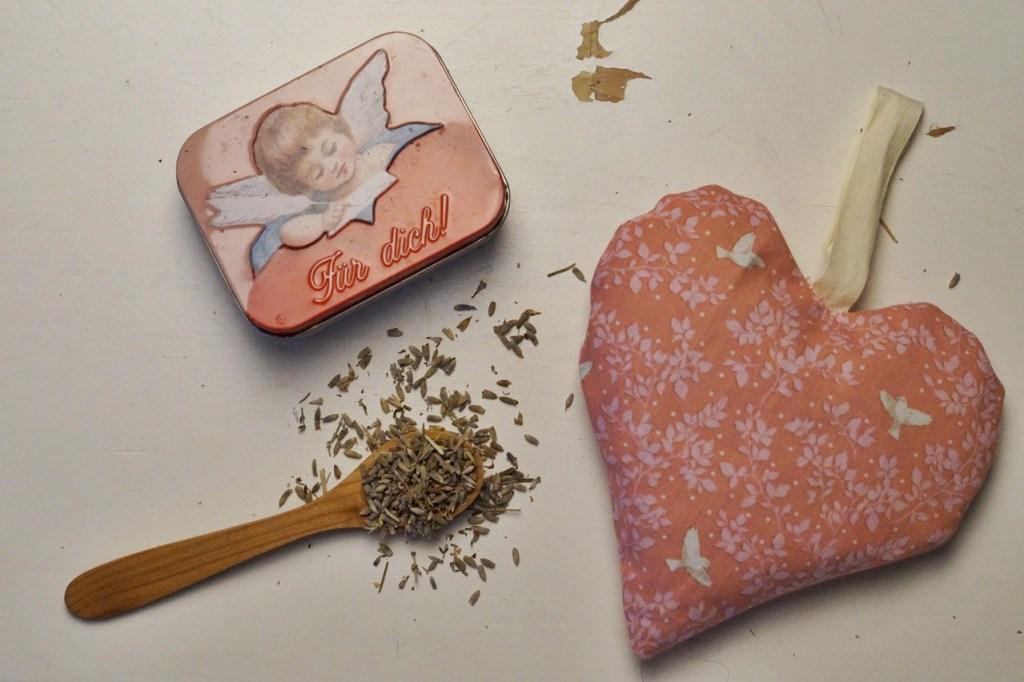 Lavendelkissen Herz