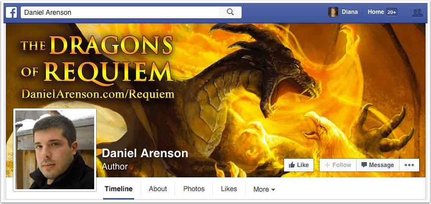Daniel Arenson Facebook Page