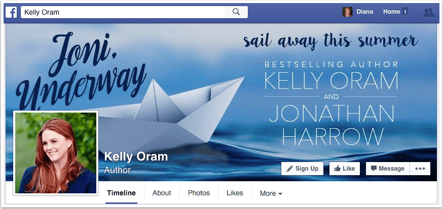 Kelly Oram Facebook Page