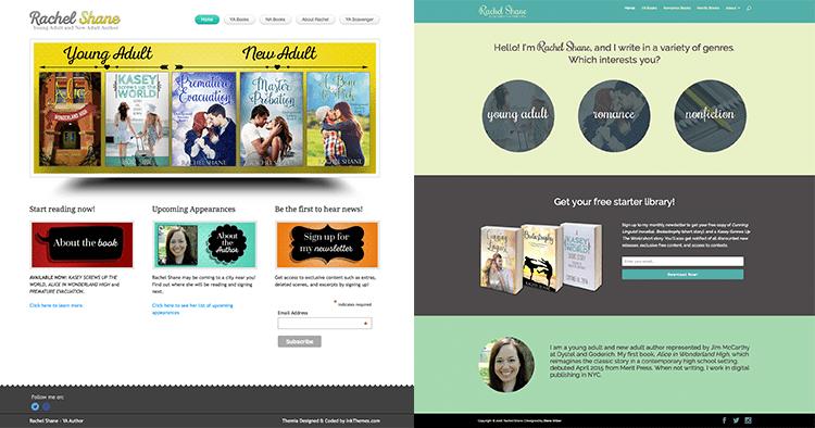 Author Website Redesign Case Study: Rachel Shane