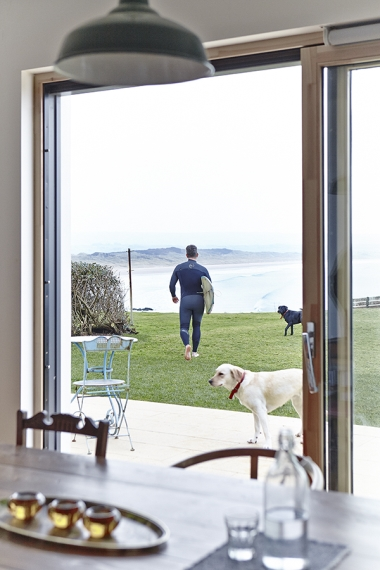 6. A garden with a view of the beach in Portstewart.