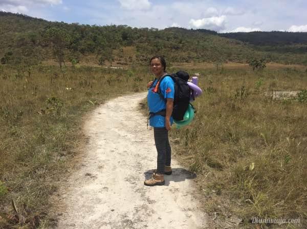 Mart foi nossa guia pelas cachoeiras do Quilombo Kalunga
