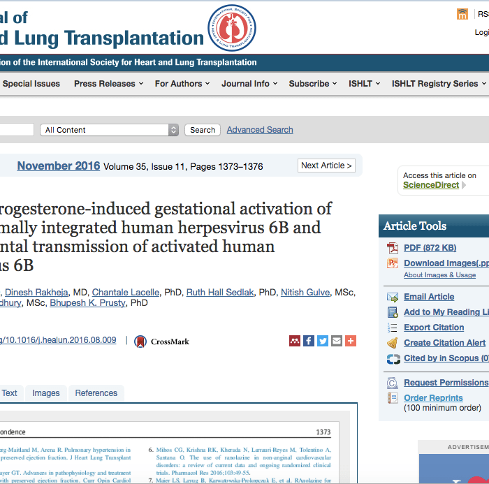 Kaden, ciHHV-6, and the Journal of Heart and Lung Transplantation