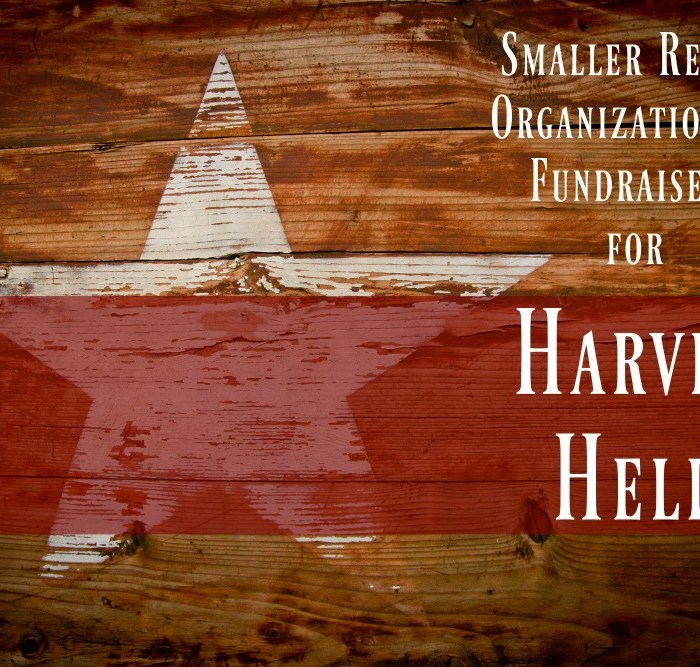 Smaller Relief Organizations & Fundraisers for Harvey Help