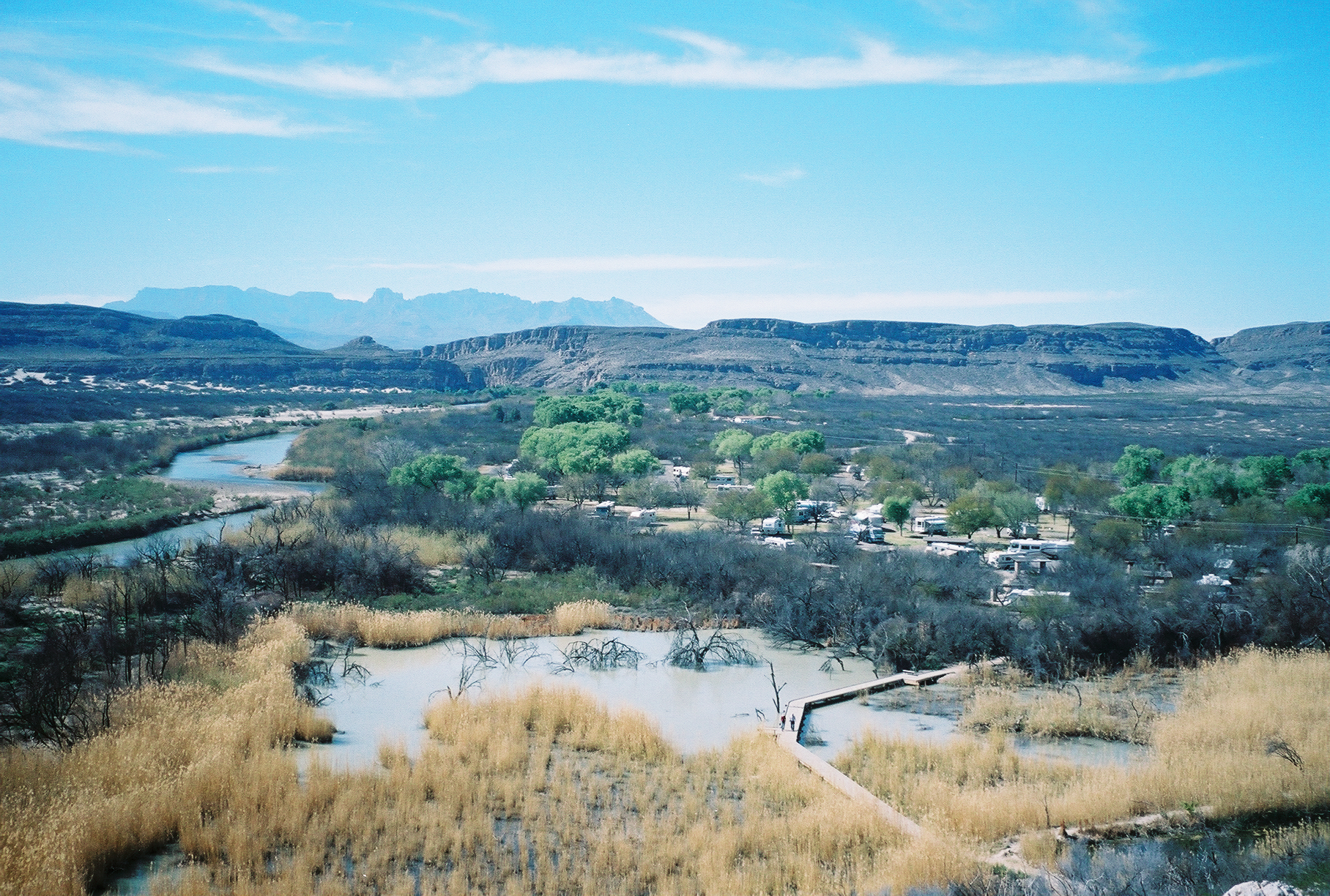 View of Big Bend and Campground