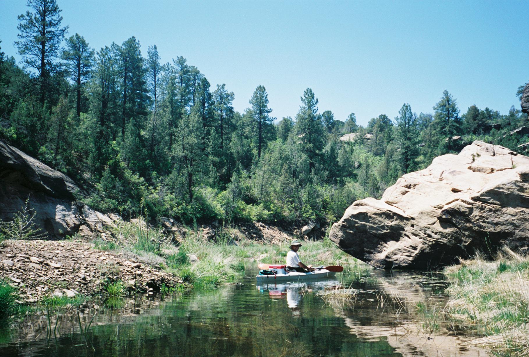 Kayaking House Creek Canyon