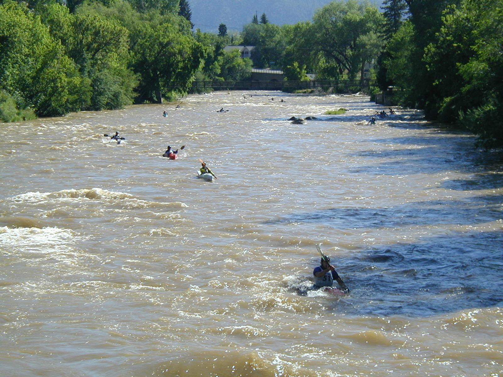 Kayakers Race on Animas River Festival
